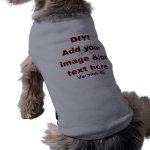 DIY Add Your Own Text and Image Custom V45 Pet Clothing