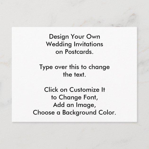 DIY Design Your Own Wedding Invites On Postcards