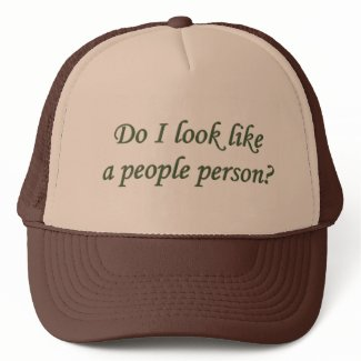 Do I look like a People Person Cap hat
