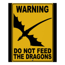 Do Not Feed the Dragons Posters