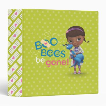 Doc McStuffins and Stuffy - Boo Boos Be Gone 3 Ring Binder