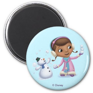 Doc McStuffins | Doc And Chilly Playing In  Snow Magnet