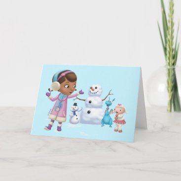 Doc McStuffins | Doc McStuffins Playing In Snow Holiday Card