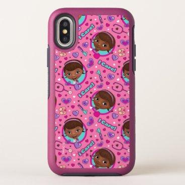 Doc McStuffins | I Care Pink Pattern OtterBox Symmetry iPhone X Case