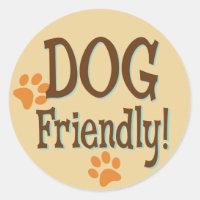 Dog Friendly Classic Round Sticker
