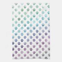 Dog Paw Kitchen Towels | Zazzle