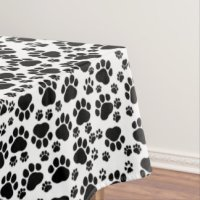 Paw Print Tablecloths | Zazzle