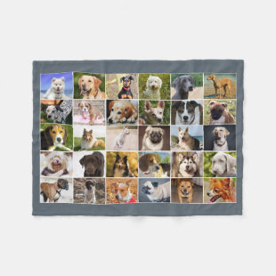Dogs Collage Fleece Blanket