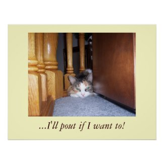 Dolly the Cat Pouting Poster print