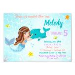 Dolphin and Mermaid birthday invitation Under sea