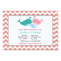 Dolphin Baby Shower Invitation