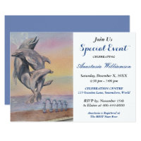DOLPHIN DESTINATION PARTY EVENT INVITE