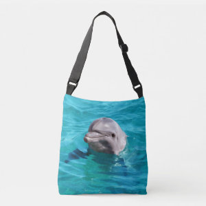 Dolphin in Blue Water Image Tote Bag