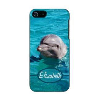Dolphin in Blue Water Photo Metallic Phone Case For iPhone SE/5/5s
