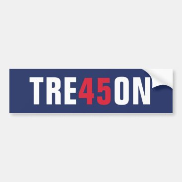 Donald Trump 45 Treason - Impeach this clown Bumper Sticker