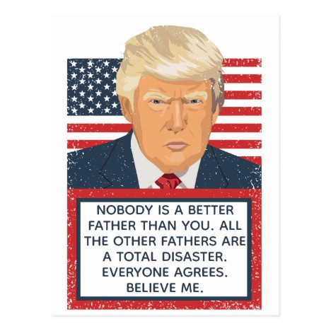 Donald Trump Father's Day Postcard