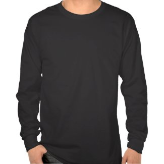 Don't be an a hole wht on blk mns LongSleeve shirt