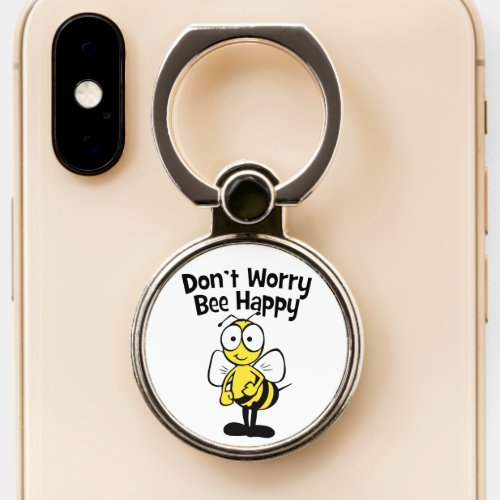 Don't Worry Be Happy Bee | Bumble Bee Phone Ring Stand