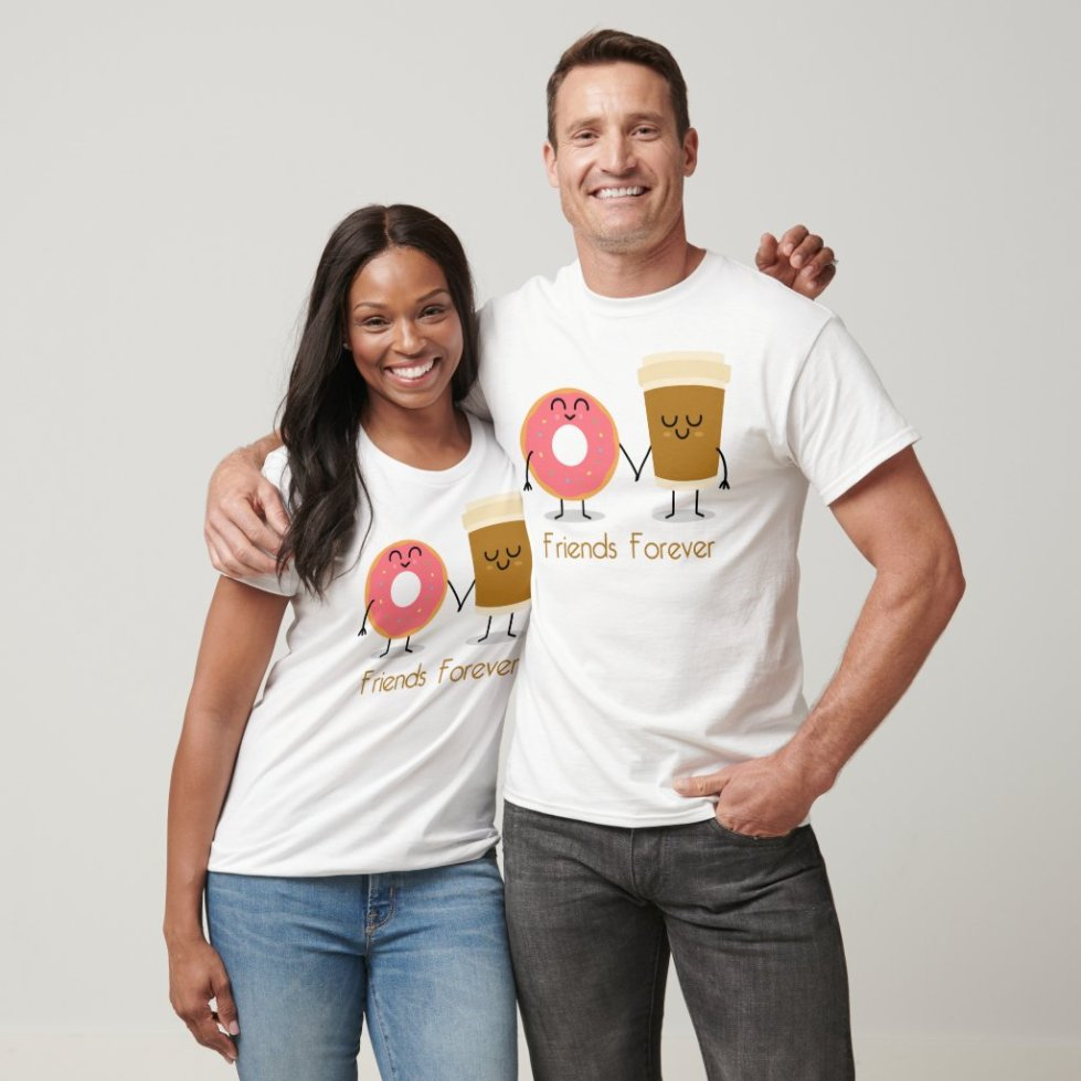 Donut and Coffee Best Friend T-Shirt