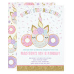 Donut And Unicorn Invitation Donut Stop Believing
