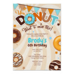 Donut Birthday Party Invitations - Boy