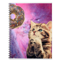 Donut Praying Cat Notebook