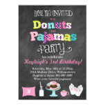 ❤️ Donuts and Pajamas Chalkboard Style Invitation