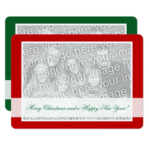 Double Sided Photo Christmas Cards For Two Images Zazzle