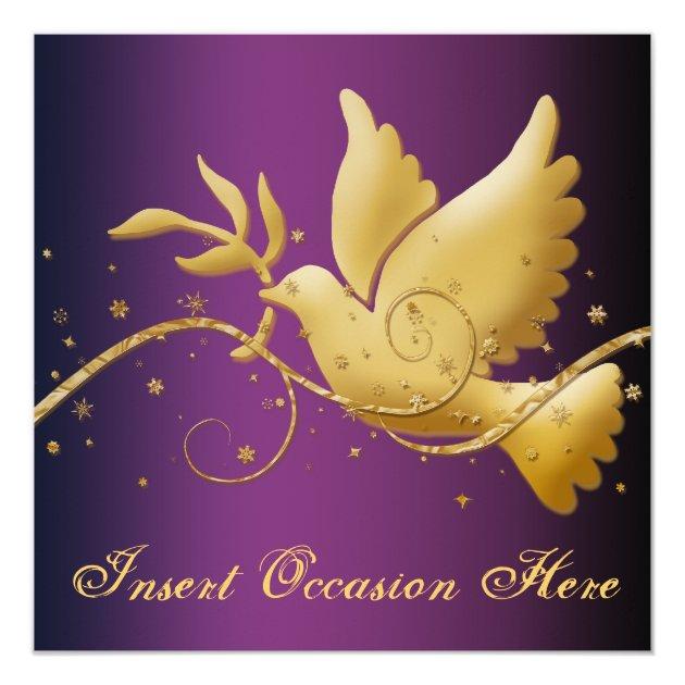 Dove Of Peace Christmas Religious Card Zazzle