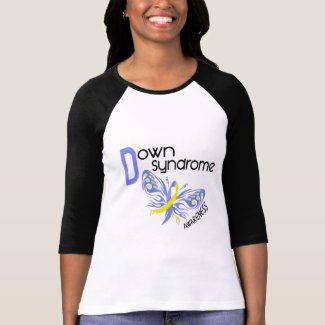 Down Syndrome BUTTERFLY 3.1 T Shirt