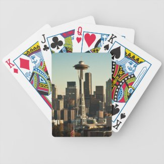 Downtown Seattle skyline and Space Needle Bicycle Card Deck