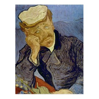Dr Paul Gachet (2nd version) by Vincent van Gogh Post Cards