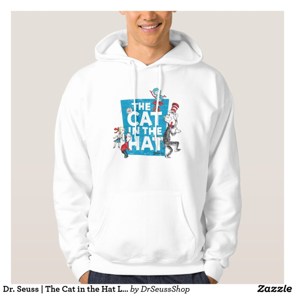 Dr. Seuss | The Cat in the Hat Logo - Characters Hoodie