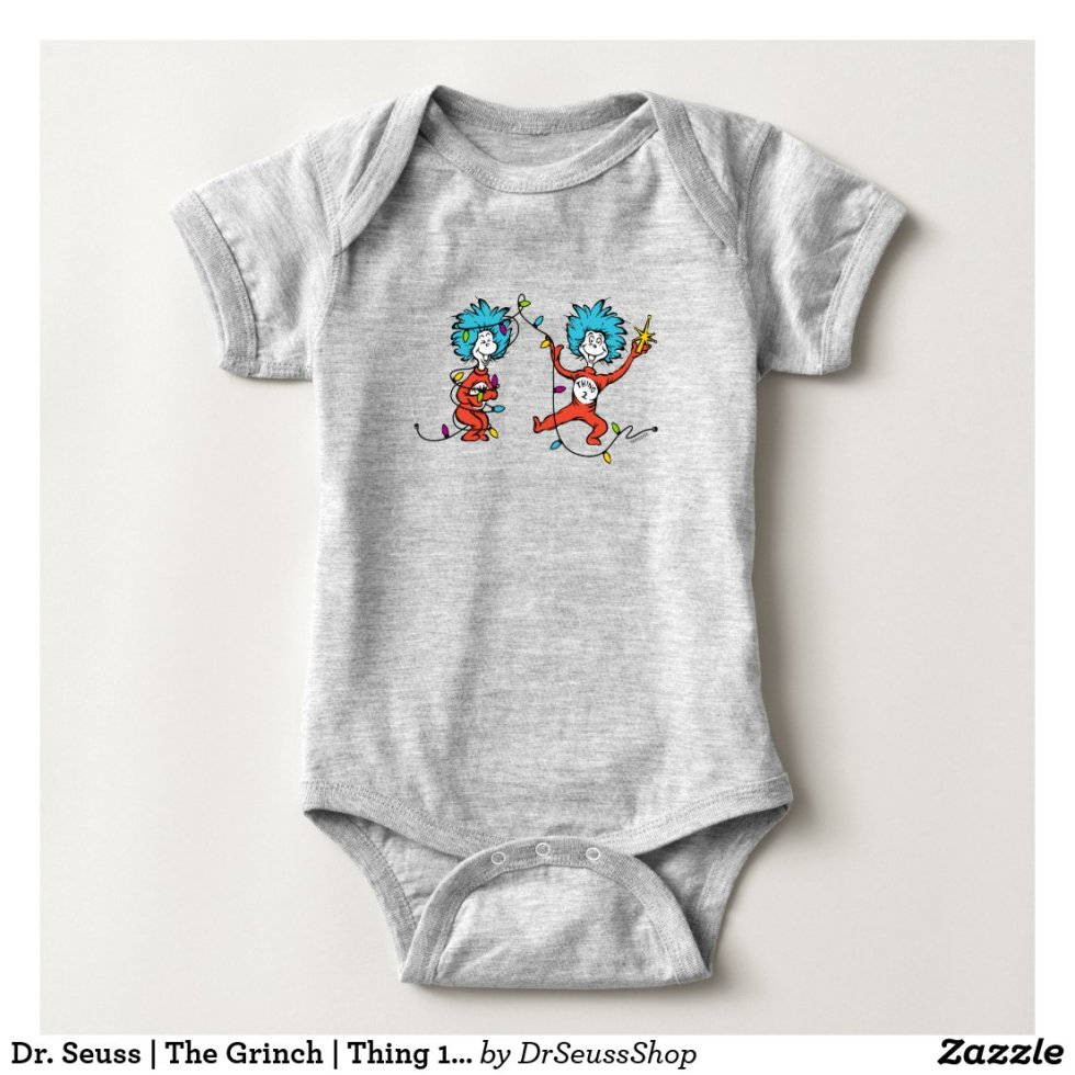 Dr. Seuss | The Grinch | Thing 1 & Thing 2 Dancing Baby Onesie