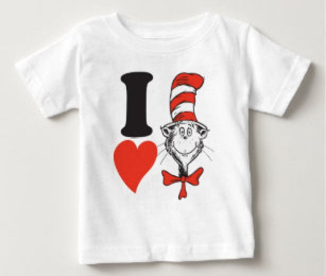 Dr Seuss Valentine I Heart The Cat In The Hat Baby T Shirt