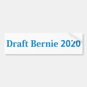 Draft Bernie 2020 Bumper Sticker Blue on White