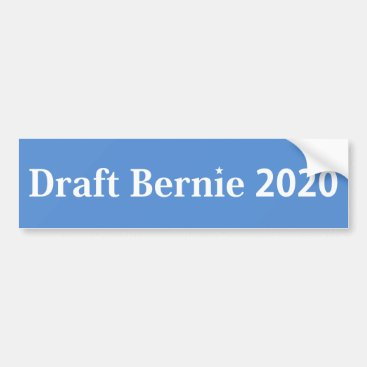 Draft Bernie 2020 Bumper Sticker White on Blue