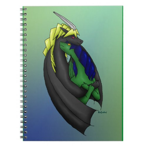 Dragon Hug Notebook notebook