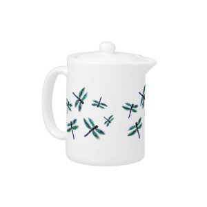 Dragonfly Art Tea Set Teapot