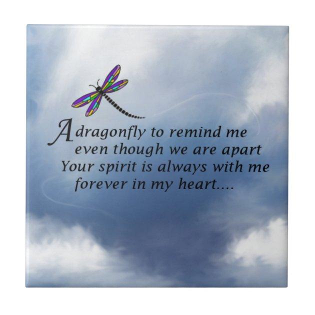 Dragonfly Memorial Poem Tile