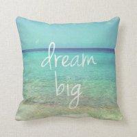 Dream big pillow   Zazzle