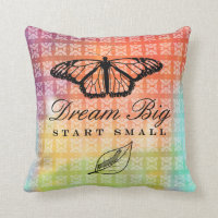 Dream Big, Start Small Throw Pillow