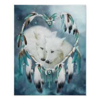 Dream Catcher - Heart Of A Wolf Art Poster/Print