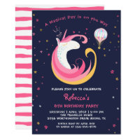 Dream Magical Unicorn & Hot Air Balloon Birthday Card