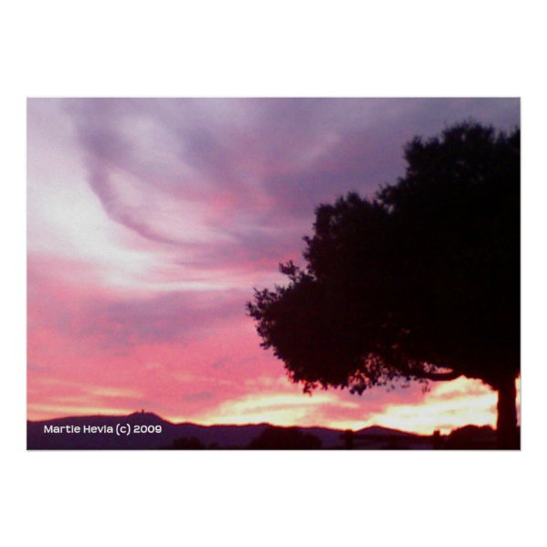 Dream Sunset Tree print