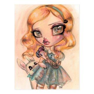 Drink Me - Alice in Wonderland by Natasha Wescoat Postcard