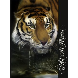 Drinking Tiger Postcard