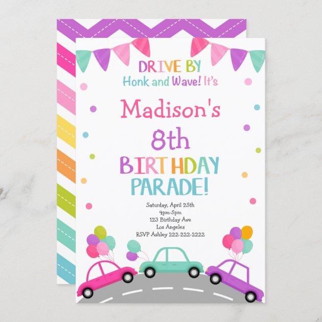 drive by invitation birthday parade invitation zazzle com