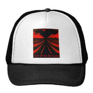 Drive Of Into The Sunset Trucker Hat