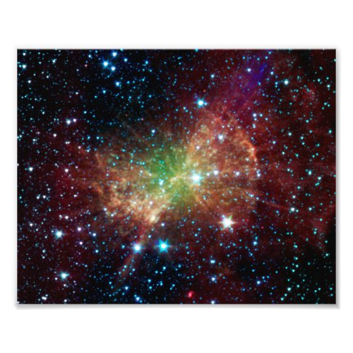 Dumbbell Nebula Infrared Space Photo Print